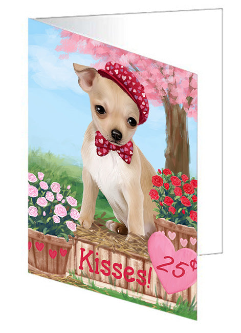 Rosie 25 Cent Kisses Chihuahua Dog Note Card NCD73835