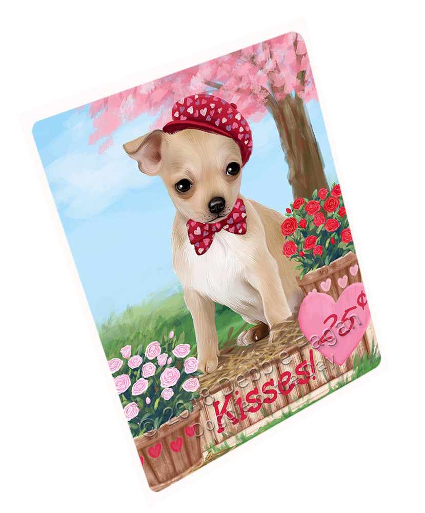 Rosie 25 Cent Kisses Chihuahua Dog Large Refrigerator / Dishwasher Magnet RMAG100908