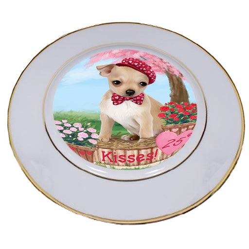Rosie 25 Cent Kisses Chihuahua Dog Porcelain Plate PLT54789