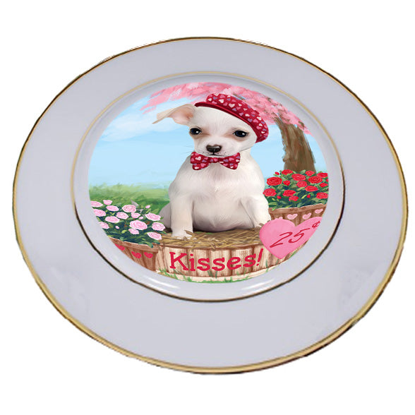 Rosie 25 Cent Kisses Chihuahua Dog Porcelain Plate PLT54790