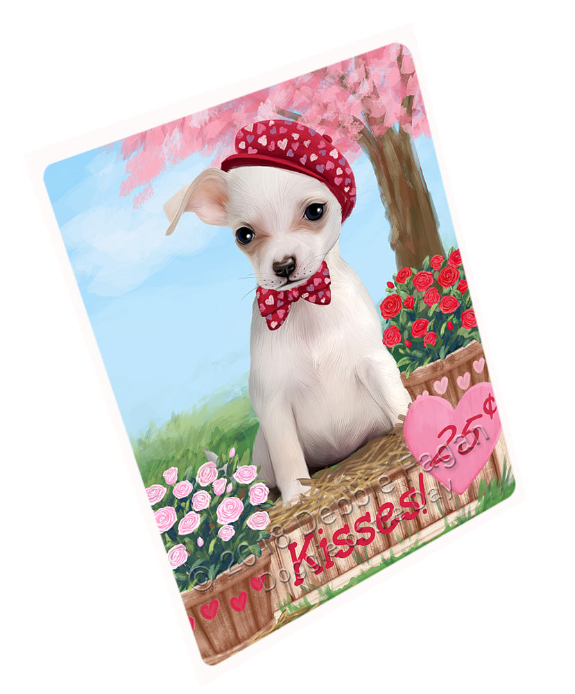 Rosie 25 Cent Kisses Chihuahua Dog Large Refrigerator / Dishwasher Magnet RMAG100914