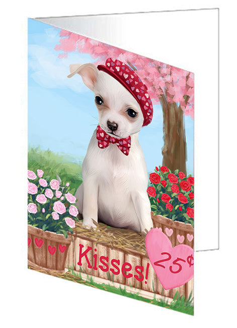 Rosie 25 Cent Kisses Chihuahua Dog Note Card NCD73838