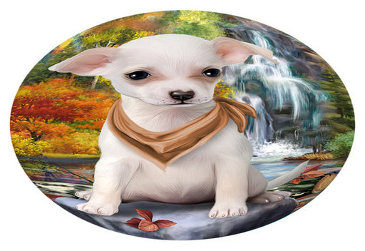 Scenic Waterfall Chihuahua Dog Oval Envelope Seals OVE63428
