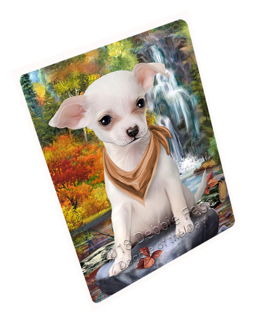 "Scenic Waterfall Chihuahua Dog Magnet Mini (3.5"" x 2"") MAG59823"