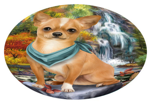 Scenic Waterfall Chihuahua Dog Oval Envelope Seals OVE63432