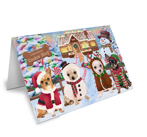 Holiday Gingerbread Cookie Shop Chihuahuas Dog Note Card NCD73691