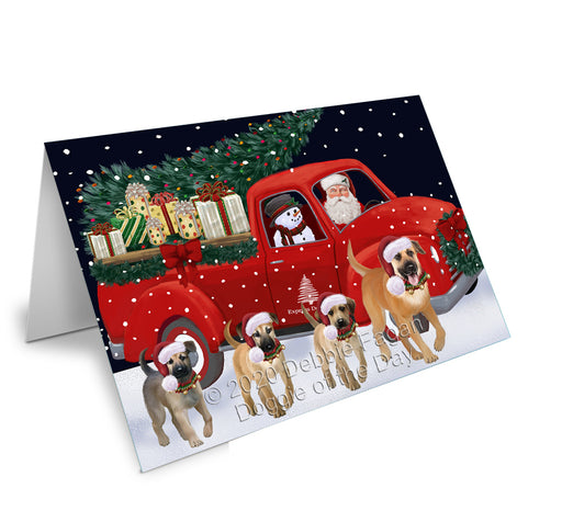 Christmas Express Delivery Red Truck Running Chinook Dogs Greeting Card GCD75110