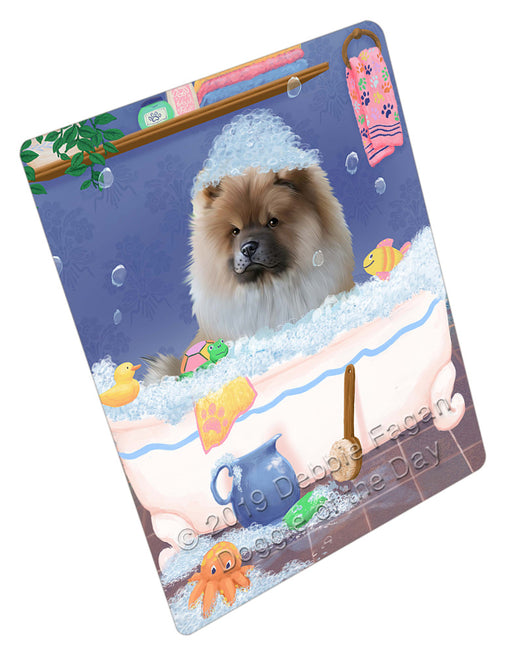 Rub A Dub Dog In A Tub Chow Chow Dog Refrigerator / Dishwasher Magnet RMAG109050