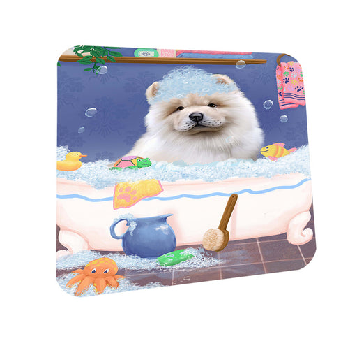 Rub A Dub Dog In A Tub Chow Chow Dog Coasters Set of 4 CST57306