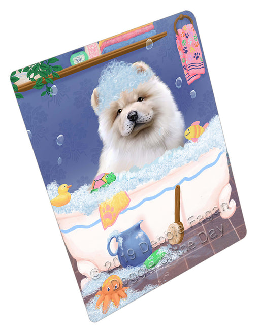 Rub A Dub Dog In A Tub Chow Chow Dog Refrigerator / Dishwasher Magnet RMAG109056