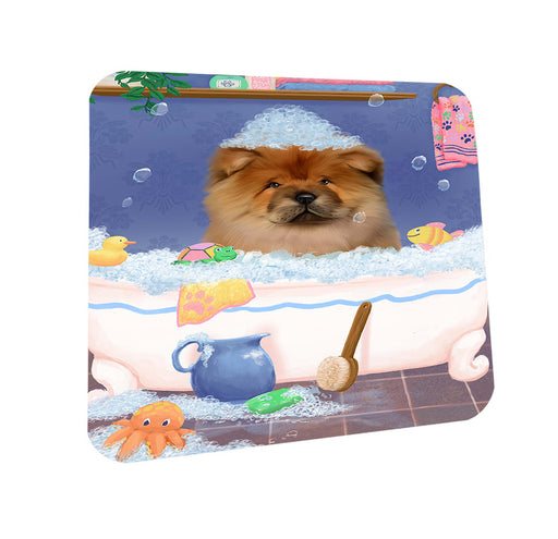 Rub A Dub Dog In A Tub Chow Chow Dog Coasters Set of 4 CST57307