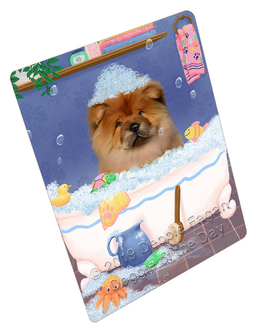Rub A Dub Dog In A Tub Chow Chow Dog Refrigerator / Dishwasher Magnet RMAG109062