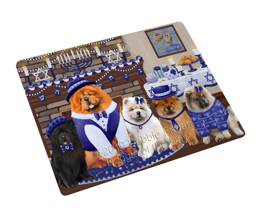 Happy Hanukkah Family and Happy Hanukkah Both Chow Chow Dogs Large Refrigerator / Dishwasher Magnet RMAG105432