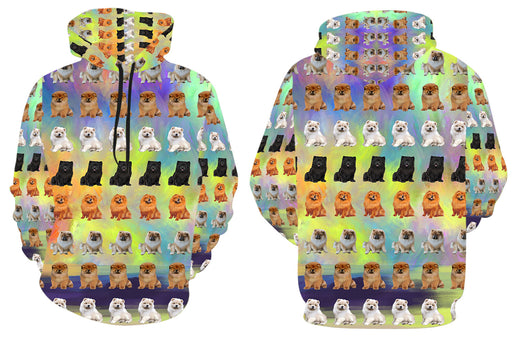 Paradise Wave Chow Chow Dogs All Over Print Kid's Hoodie
