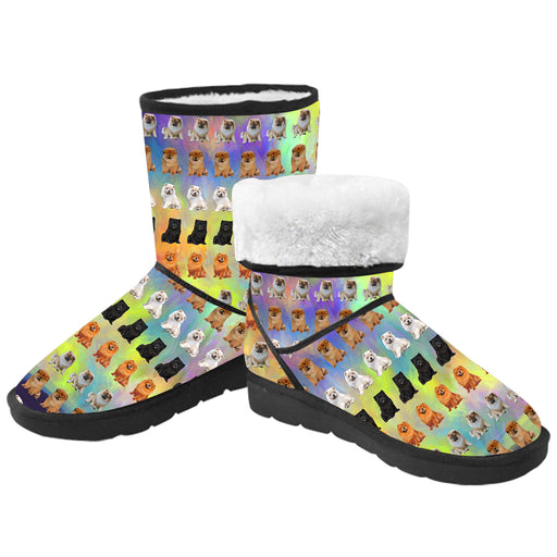 Paradise Wave Chow Chow Dogs  Kid's Snow Boots