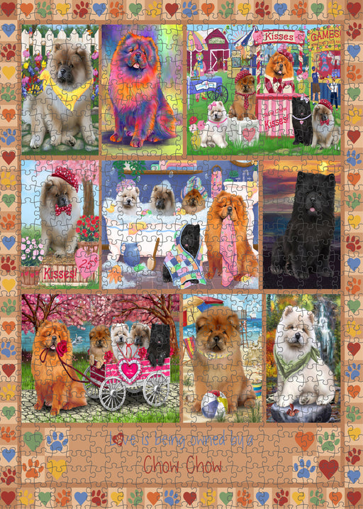 Love is Being Owned Chow Chow Dog Beige Puzzle with Photo Tin PUZL98380