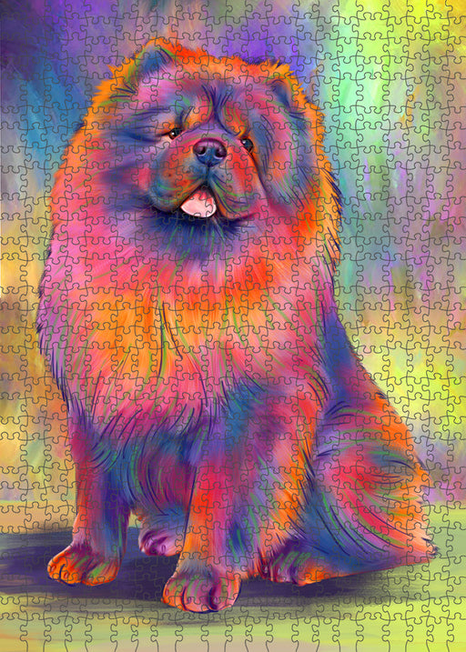 Paradise Wave Chow Chow Dog Puzzle with Photo Tin PUZL95012
