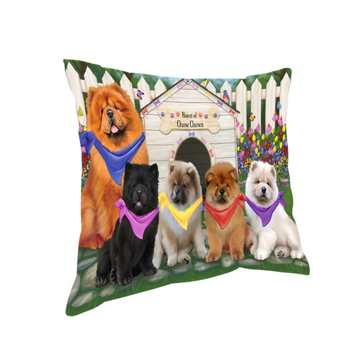 Spring Dog House Chow Chows Dog Pillow PIL55280