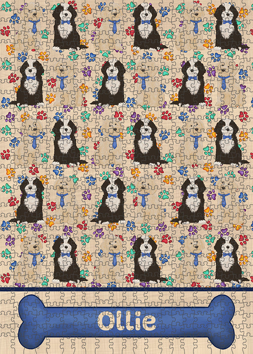 Rainbow Paw Print Cockapoo Dogs Puzzle with Photo Tin PUZL97696