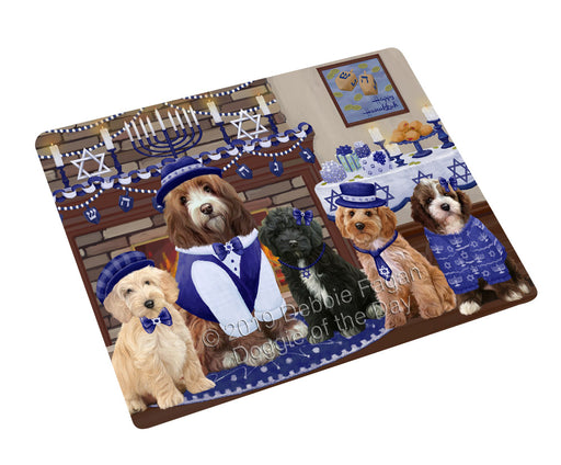 Happy Hanukkah Family and Happy Hanukkah Both Cockapoo Dogs Large Refrigerator / Dishwasher Magnet RMAG105438