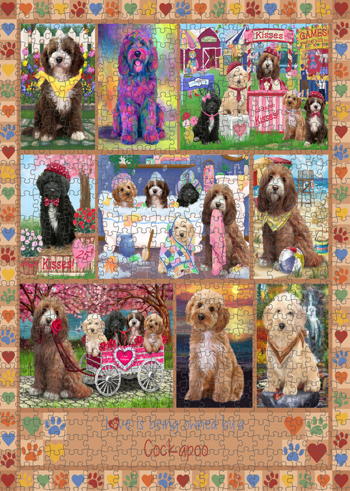 Love is Being Owned Cockapoo Dog Beige Puzzle with Photo Tin PUZL98388