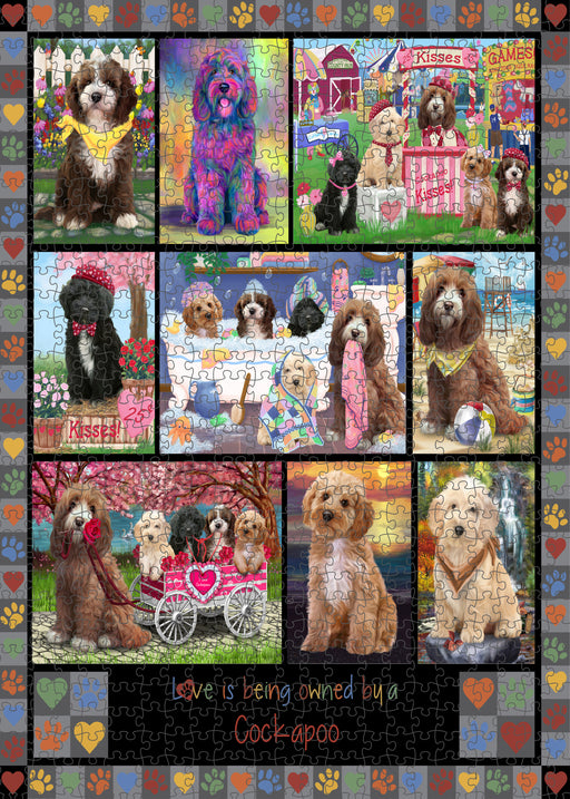 Love is Being Owned Cockapoo Dog Grey Puzzle with Photo Tin PUZL98392