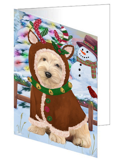 Christmas Gingerbread House Candyfest Cockapoo Dog Note Card NCD73448