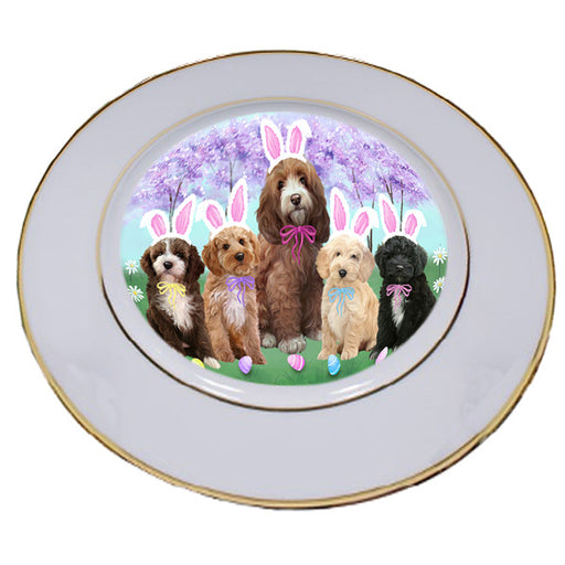 Easter Holiday Cockapoos Dog Porcelain Plate PLT55282