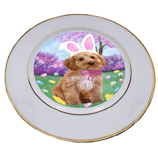 Easter Holiday Cockapoo Dog Porcelain Plate PLT55283