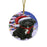 Winterland Wonderland Cockapoo Dog In Christmas Holiday Scenic Background Round Flat Christmas Ornament RFPOR53736