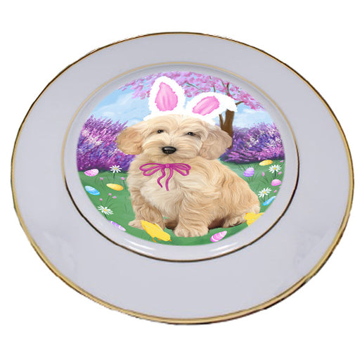 Easter Holiday Cockapoo Dog Porcelain Plate PLT55284