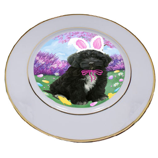 Easter Holiday Cockapoo Dog Porcelain Plate PLT55285