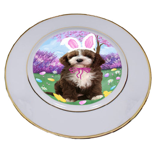 Easter Holiday Cockapoo Dog Porcelain Plate PLT55286