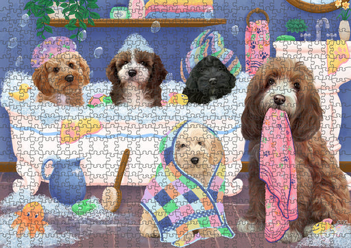 Rub A Dub Dogs In A Tub Cockapoos Dog Puzzle with Photo Tin PUZL95328