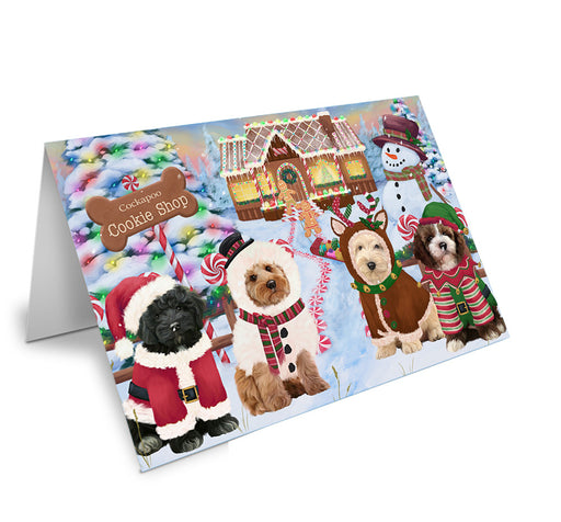 Holiday Gingerbread Cookie Shop Cockapoos Dog Note Card NCD73697
