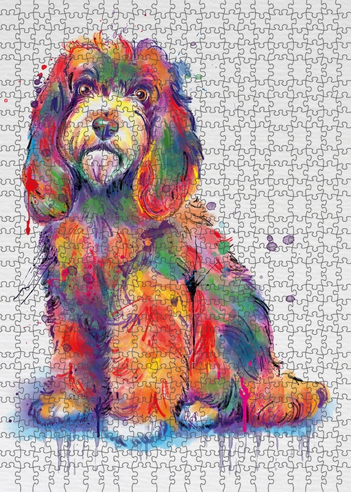 Watercolor Cockapoo Dog Puzzle with Photo Tin PUZL97136