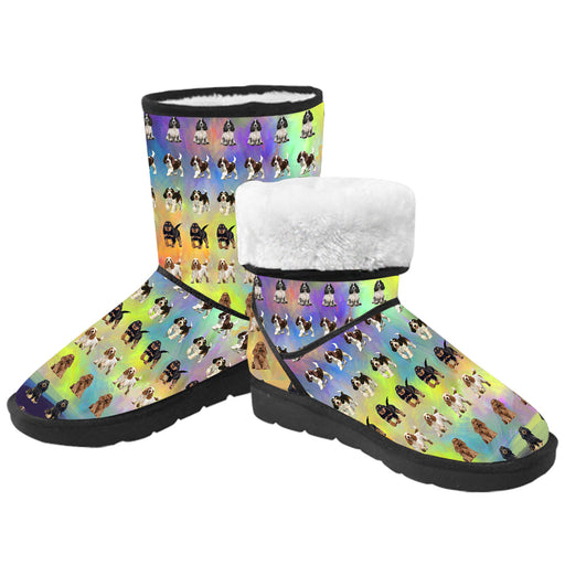 Paradise Wave Cocker Spaniel Dogs  Kid's Snow Boots