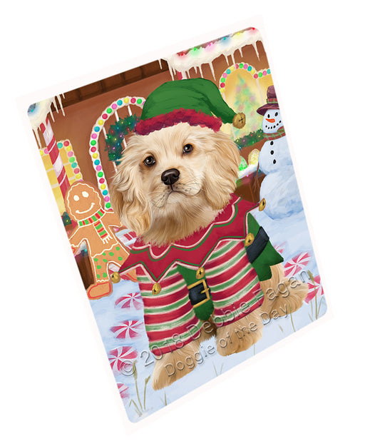 Christmas Gingerbread House Candyfest Cocker Spaniel Dog Large Refrigerator / Dishwasher Magnet RMAG100152
