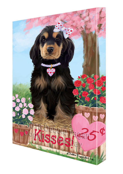 Rosie 25 Cent Kisses Cocker Spaniel Dog Canvas Print Wall Art Décor CVS124865