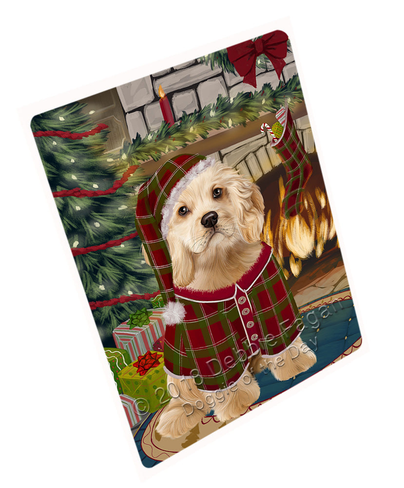"The Stocking was Hung Cocker Spaniel Dog Magnet MAG70989 (Mini 3.5"" x 2"")"