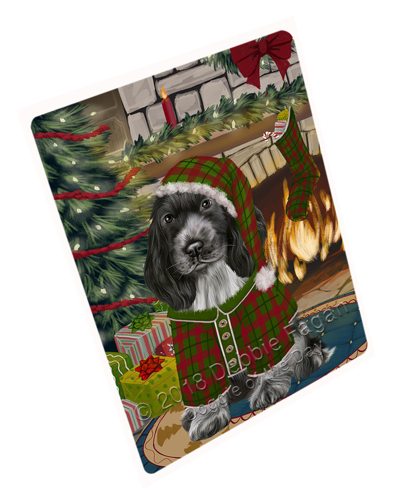 "The Stocking was Hung Cocker Spaniel Dog Magnet MAG70992 (Mini 3.5"" x 2"")"