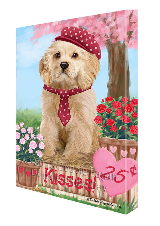 Rosie 25 Cent Kisses Cocker Spaniel Dog Canvas Print Wall Art Décor CVS124874