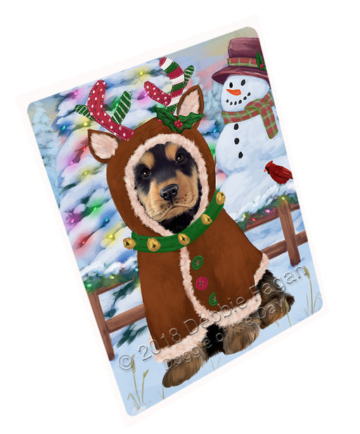 Christmas Gingerbread House Candyfest Cocker Spaniel Dog Large Refrigerator / Dishwasher Magnet RMAG100158