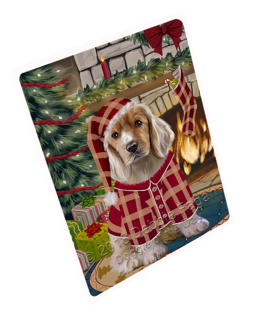 "The Stocking was Hung Cocker Spaniel Dog Magnet MAG70995 (Mini 3.5"" x 2"")"