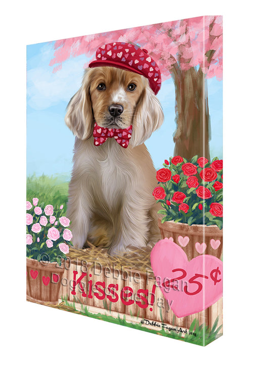 Rosie 25 Cent Kisses Cocker Spaniel Dog Canvas Print Wall Art Décor CVS124883