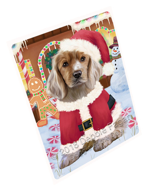 Christmas Gingerbread House Candyfest Cocker Spaniel Dog Large Refrigerator / Dishwasher Magnet RMAG100164