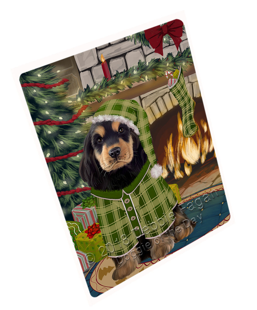 "The Stocking was Hung Cocker Spaniel Dog Magnet MAG70998 (Mini 3.5"" x 2"")"