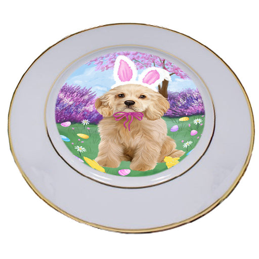 Easter Holiday Cocker Spaniel Dog Porcelain Plate PLT55290