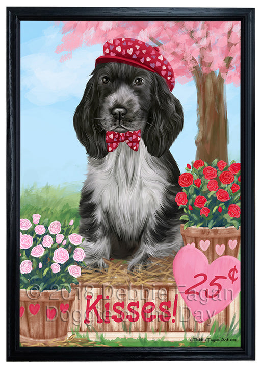 Rosie 25 Cent Kisses Cocker Spaniel Dog Framed Canvas Print Wall Art FCVS186533
