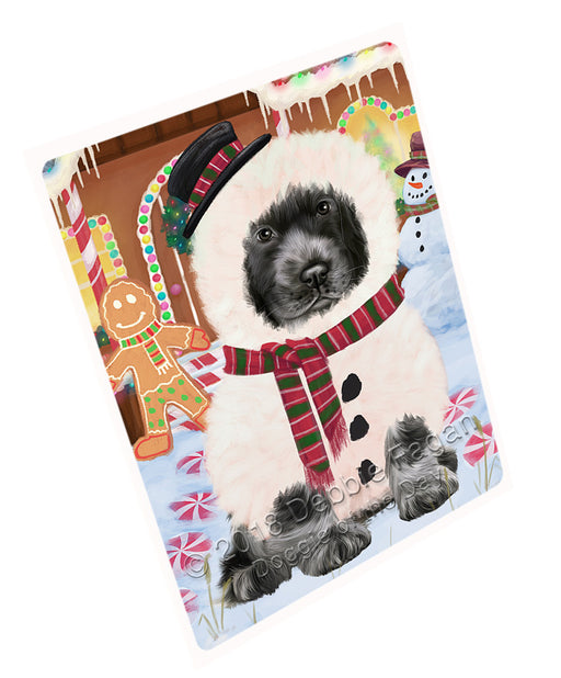 Christmas Gingerbread House Candyfest Cocker Spaniel Dog Large Refrigerator / Dishwasher Magnet RMAG100170
